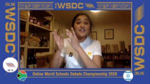 Online WSDC 2020 Octo-finals: South Africa vs Israel