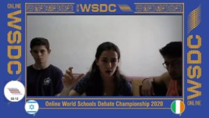 Online WSDC 2020 Quarter-finals: Israel vs Ireland