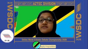Online WSDC 2020 Round 1: Mexico vs Tanzania
