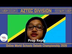 Online WSDC 2020 Round 3: Tanzania vs Syria